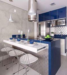 Bom dia!   Cinza branco e azul numa cozinha compacta e linda. Amei@pontodecor Projeto @moniserosaarquitetura Snap:  hi.homeidea  http://ift.tt/23aANCi #bloghomeidea #olioliteam #arquitetura #ambiente #archdecor #archdesign #cozinha #kitchen #arquiteturadeinteriores #home #homedecor #pontodecor #lovedecor #homedesign #instadecor #interiordesign #designdecor #decordesign #decoracao #decoration #love #instagood #decoracaodeinteriores #lovedecor #lindo #luxo #architecture #archlovers…