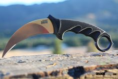 Cold Steel 49KS Steel Tiger. Cold Steel has always contended that the Karambit is a specialized style of knife with unique but limited uses. It is also, however, quite popular. http://www.osograndeknives.com/store/catalog/fixed-blade-karambits/cold-steel-49ks-steel-tiger-209.html