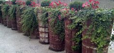 Reciclaje de comportas donde se transportaba #uva, Bodegas Lopez de Heredia (#Rioja Alta)