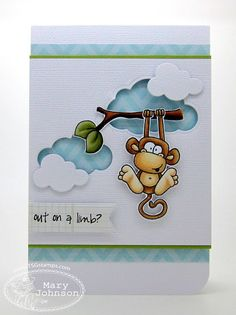 negative die cuts card - bjl