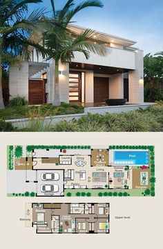 best lot less pool&games All bedrooms are upstairs. But downstairs is designed to be an entertainer's dream. House Layout Plans, Dream House Plans, House Layouts, House Floor Plans, Dream Houses, Building Design, Building A House, Building Ideas, Model House Plan