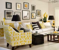 amarillo, blanco y negro