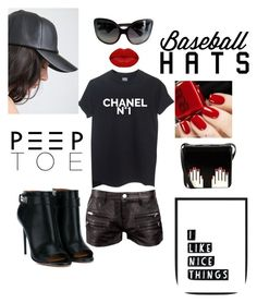 """""""Sexy in a Baseball Hat- my style"""" by kotnourka ❤ liked on Polyvore featuring IRO, Chanel, Givenchy, Winky Lux, Vera Wang and Lulu Guinness"""