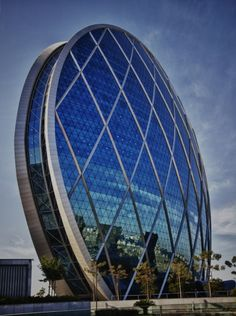 ALDAR HQ tower in Abu Dhabi. It is world's only spherical building. Aldar HQ has just become the latest landmark of Abu Dhabi.