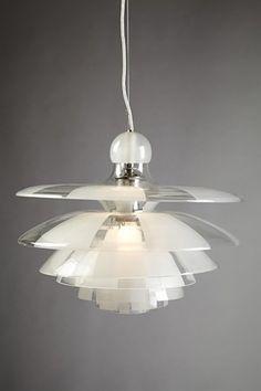"""Ceiling lamp """"Septima 5"""", designed by Poul Henningsen for Louis Poulsen, Denmark. 1929. http://www.modernity.se/"""