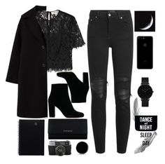 """""""All Black"""" by riley-callen ❤ liked on Polyvore featuring Diane Von Furstenberg, AMIRI, Givenchy, CLUSE and Native State"""