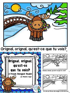 Practice winter vocabulary in French with this fun Emergent Reader. French Teaching Resources, Teaching French, Winter Fun, Winter Theme, Printing Practice, September Activities, Core French, French Immersion, Vocabulary Activities