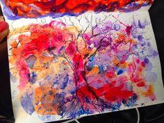 #watercolor #desenho #loveart #arvore #arte #art #aquarela #cores #passaros