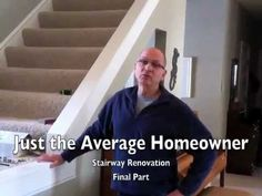 The Average Homeowner completes his stairway renovation from half wall to to Hardwood Banister and Wrought Iron Balusters. I want to do this with our stairs