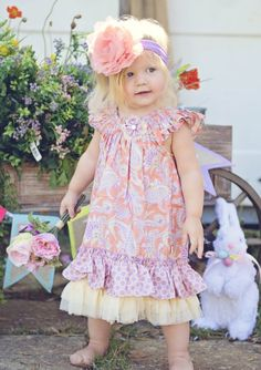 Spring Paisley Flutter Dress 2T to 8 Years Now in Stock! - Girls Easter Dresses - Cassie's Closet