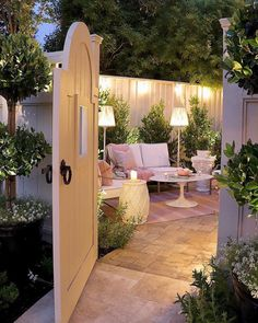 Thoughts for small backyard patios are interminable! Try not to be debilitated if your backyard is little and you figure it can't oblige a hard surface seating territory. A patio can be built in a corner easily. Simply consider how… Continue Reading → Outdoor Rooms, Outdoor Gardens, Outdoor Decor, Outdoor Living Spaces, Small Patio Gardens, Outdoor Ideas, Inexpensive Patio Ideas, Outdoor Lamps, Outdoor Dining