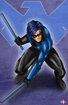 DC Comics' Nightwing.