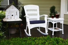 Best Outdoor Wicker Patio Furniture for your Home! We love Wicker Furniture for a patio because it is beautiful, durable, and luxurious. You can quickly upgrade a coastal patio with a wicker furniture set or wicker dining set. Plastic Rocking Chair, Wicker Rocking Chair, Outdoor Rocking Chairs, Wicker Dining Set, Wicker Chairs, Patio Chairs, Rattan, Bamboo Chairs, Dining Chairs
