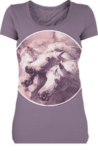 Idylle tee, with horses on purple (2 of my favorite things, except the base tee for mine is dove grey)