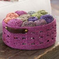 Red Heart® Bricks Basket Free Download, many, many free crochet patterns.
