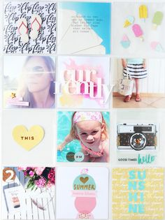 "In The Scrap: Project Life Double Page ""Summer"" with Tutorial - Por Steffi"