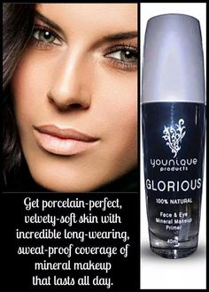 Glorious primer used under your makeup will give your face a smooth airbrushed look! It also keeps your makeup in place alll day long! www.youniqueproducts.com/amber