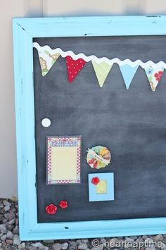 DIY magnetic chalk board