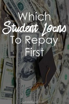 Which Student Loans to Repay First - learn tips to move forward in your finances. You are in the right place about Student Loans image Here we offer you the mos Best Student Loans, Apply For Student Loans, Private Student Loan, Federal Student Loans, Paying Off Student Loans, Student Loan Debt, Student Loan Repayment, Debt Repayment, Loan Consolidation
