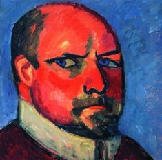 """Jawlensky   Self Protrait............""""The artist expresses only what he has within himself, not what he sees with his eyes"""""""