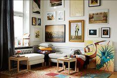 De woonkamer eclectisch inrichten: modern en excentriek