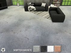 The Sims Resource: Scuffed Concrete Floor by .Torque • Sims 4 Downloads