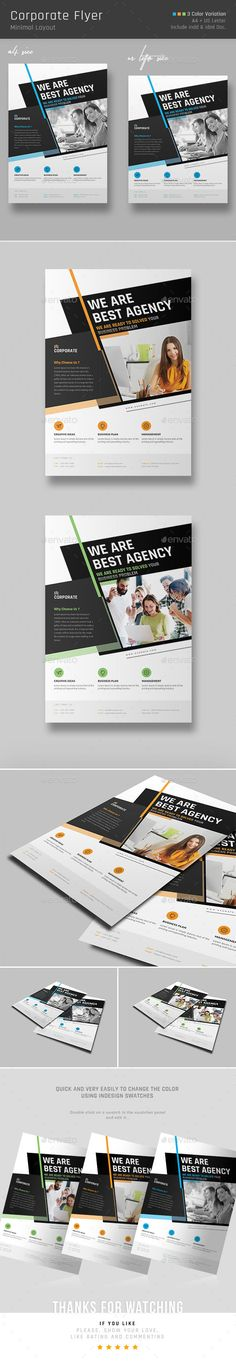 Corporate Flyer Template InDesign INDD. Download