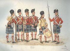 Regimental kilts of the 1800s