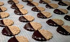 Cacao Dipped Almond Thins by Callie England