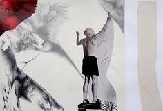 le-createur.jpg - Dessin,  30x30 cm ©2015 par Camille Hermès -            dessin, collage