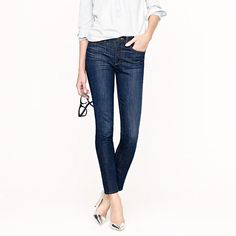 Someone please employ me soon, workin' hard for some new pants. JCREW Midrise toothpick jean in carbon