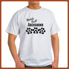 CafePress - Worlds Best Dachshund Dad T-Shirt - 100% Cotton T-Shirt - Relatives and family shirts (*Partner-Link)