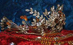 Paste and glass tiara