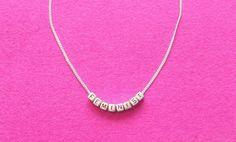 Feministische Halskette Buchstaben Kette von catfightback auf Etsy