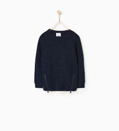 ZARA - SALE - Textured sweater with zips