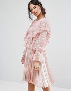 Lace Frill Blouse by MISSGUIDED. Blouse by Missguided, Lace knit, Crew neck, Frill detailing, Stretch cuffs, Regular fit - true to size, Machine wash, 90% Polyamide, 10% Elastane, Our model wears a UK 8/EU 36/US 4. With an eye on the catwalks and hottest gals around, Mi... #missguided