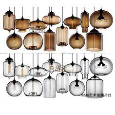 TUR W18cm*H29cm Italy Jeremy Pyles Glass Dining Room Pendant Light Modern Restaurant Bar Counter Pendant Lamp -12