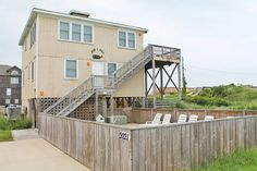 """Now I Sea"" 621-A Oceanfront, South Nags Head, NC. 4 bedroom/2.5 bathroom Oceanfront vacation home just down the beach from the Outer Banks fishing pier!"
