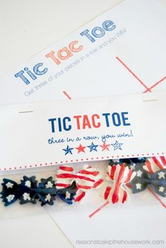 Tic tac bow - stars and stripes