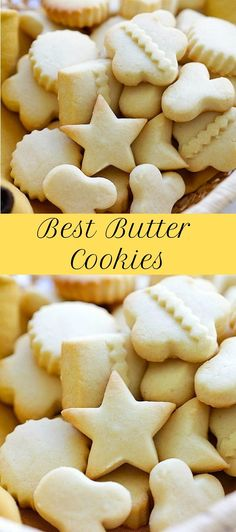 Best Butter Cookies Best Butter Cookies<br> Butter Cookies - EASIEST & BEST butter cookies recipe ever! Loaded with butter, crumbly, melt-in-your-mouth deliciousness. Chocolate Peanut Butter Cookies, Coconut Cookies, Chocolate Drizzle, Cookie Desserts, Cookie Recipes, Dessert Recipes, Butter Cookies Recipes, Butter Sugar Cookies, Best Butter Cookie Recipe Ever