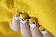 Bright aztec nails with IEUV Jamberry Nails, Nail Manicure, Toe Nails, Nail Polish, Aztec Nail Designs, Nail Art Designs, Nails Design, Aztec Nails, Chevron Nails