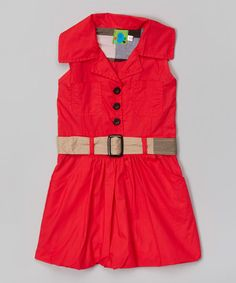 Love this Red Belted Dress - Infant, Toddler & Girls by Jelly Bean on #zulily! #zulilyfinds