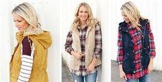 Fur lined hooded vest $29.99
