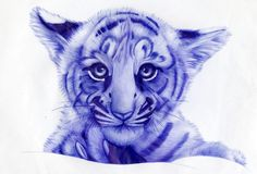 DRAW WITH BLUE BALL PEN.  NON PHOTOSHOPED