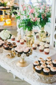 Wedding Dessert Table | #Maggiebride Rachel wore Tracey by Sottero and Midgley at her Romantic Soft Pink Wedding | One Love Photography