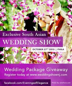 Getting married?  Come to our 2013 bridal show!!!  Please repin to get the word out there!  #bridalshows #weddings #indianweddings   @Indian Wedding Site  @Maharani Weddings  @NJ.com  @SYPhotography  @Nayeem Vohra  @Kamal Arora Moghul Caterers