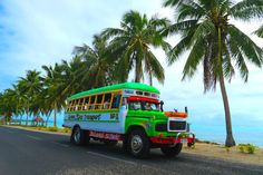The pimped-out Samoan busses are an attraction of their own in Samoa!