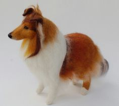Needle felted Collie