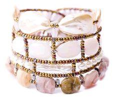 Atlas Pink Bracelet is handmade in Italy of semi-precious stones. $425 at www.SalangOnline.com