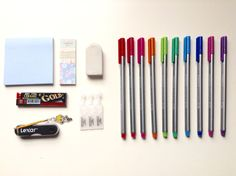 """tbhstudying: """"what's in my pencil case!!this is what i carry around on a daily basis in a lihit lab teffa pen case in black!! • mechanical pencils • uniball signo 0.5 in black • miffy dong-a 0.5 in..."""